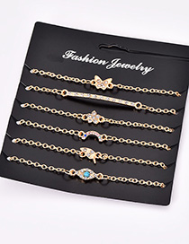 Fashion Gold Color Butterfly&flower Decorated Bracelet(6pcs)