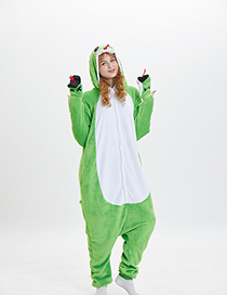 Fashion Green Snake Shape Decorated Pajamas