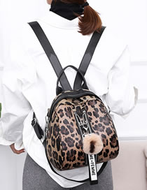 Fashion Brown Leopard Pattern Decorated Backpack