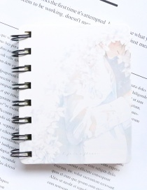 Fashion White Flower Pattern Decorated Notebook(100 Sheets)
