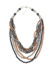 Fashion Multi-color Multi-layer Design Necklace