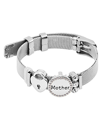Fashion Silver Color Letter Pattern Decorated Bracelet