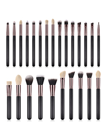 Fashion Black+white Geometric Shape Design Makeup Brushes(25pcs)