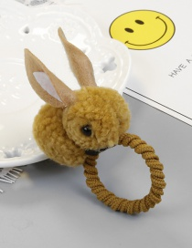 Fashion Yellow Rabbit Shape Decorated Hair Rope