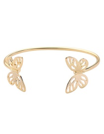 Fashion Gold Color Butterfly Shape Design Pure Color Bracelet