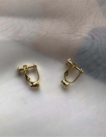 Fashion Gold Color Pure Color Decorated Screw Ear Clip