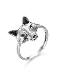 Fashion Silver Color Fox Shape Decorated Ring