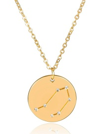 Fashion Gold Color Libra Shape Decorated Necklace