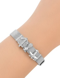 Fashion Silver Color Pineapple&aircraft Decorated Pure Color Bracelet
