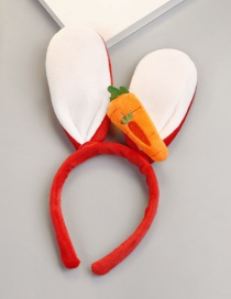 Fashion Red Carrot Shape Decorated Headband