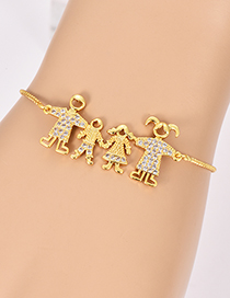 Fashion Gold Color Familay Shape Decorated Bracelet