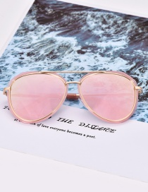 Fashion Pink Round Shape Decorated Glasses
