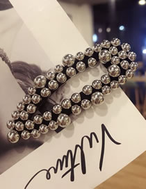 Fashion Gray Pearl Decorated Hair Clip