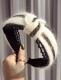 Fashion White Cross Shape Decorated Hair Hoop