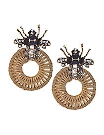 Fashion Multi-color Bee Shape Decorated Earrings