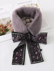 Fashion Gray Leopard Pattern Decorated Scarf