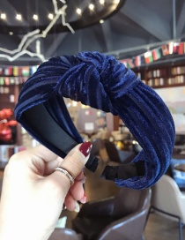 Fashion Sapphire Blue Pure Color Decorated Hair Hoop
