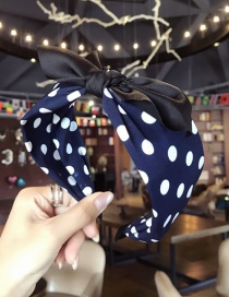 Fashion Navy Spot Pattern Decorated Hair Hoop