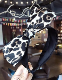 Fashion White Leopard Pattern Decorated Hair Hoop