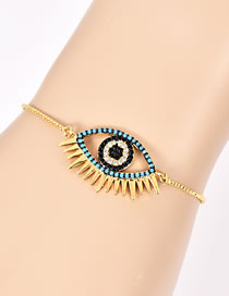 Fashion Gold Color Eye Shape Decorated Simple Bracelet
