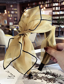 Sweet Yellow Pure Color Design Bowknot Shape Hair Hoop