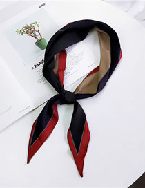 Fashion Black+red Color Matching Decorated Small Scarf