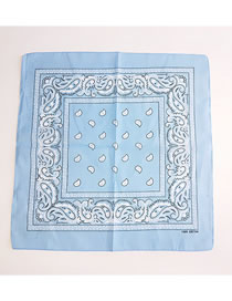 Fashion Light Blue Cashew Pattern Decorated Small Scarf