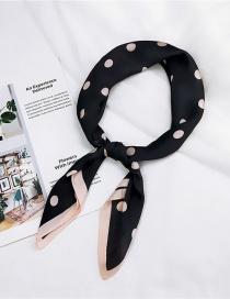 Fashion Black Bigger Dots Pattern Decorated Scarf