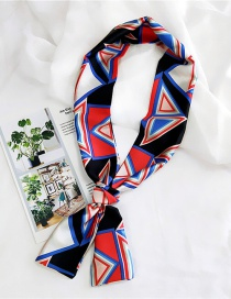 Fashion Red Triangle Pattern Decorated Simple Scarf