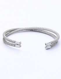 Fashion Silver Pure Color Decorated Opening Bracelet