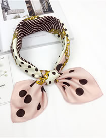 Fashion Pink Dots Pattern Decorated Scarf