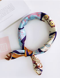 Fashion Multi-color Leaf&flowers Pattern Decorated Scarf