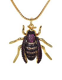 Fashion Gold Color Insect Shape Decorated Necklace