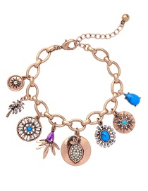 Fashion Rose Gold Tree Shape Decorated Bracelet
