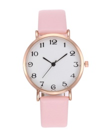 Fashion Pink Pure Color Decorated Silple Design Watch