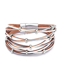 Fashion White Multi-layer Design Bracelet