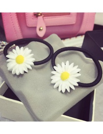 Fashion White Daisy Shape Decorated Hair Band(1pc)