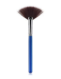 Fashion Blue+silver Color Sector Shape Decorated Makeup Brush