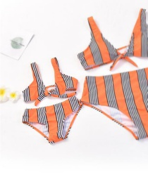 Fashion Child Split Parent-child Solid Color Pull-on Bikini