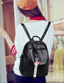 Fashion Black Large-capacity Backpack