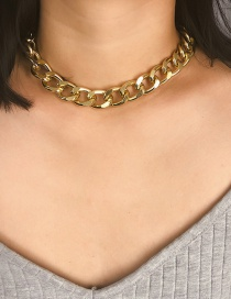 Fashion Gold 5.0 Thick Chain Frosted Necklace