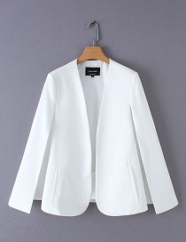 Fashion White Split Cloak Coat