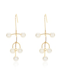 Fashion Gold Pearl Pendant Earrings
