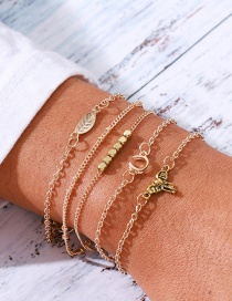 Fashion Gold Elephant Alloy Leaves More Than 5 Sets Of Bracelets
