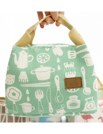 Fashion Diverse Kitchenware Canvas Portable Lunch Bag