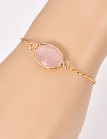 Fashion Gold Copper Resin Bracelet