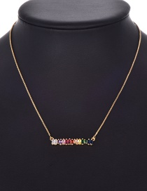 Fashion Gold Copper Inlaid Zircon Necklace