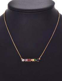Fashion Gold Copper Inlaid Zircon Necklace