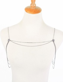 Fashion Silver Alloy Diamond-studded Sexy Shoulder Chain Female
