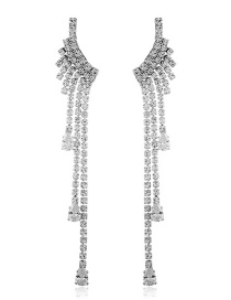 Fashion Silver Rhinestone Tassel Earrings Reviews